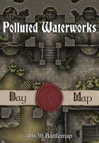 40x30 Battlemap - Polluted Waterworks