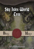 40x30 Battlemap - Sky Isles World Tree