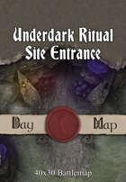 40x30 Battlemap - Underdark Ritual Site Entrance