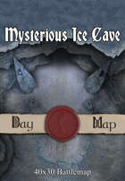 40x30 Battlemap - Mysterious Ice Cave