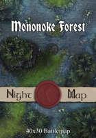 40x30 Battlemap - Mononoke Forest