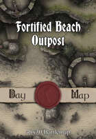 40x30 Battlemap - Fortified Beach Outpost