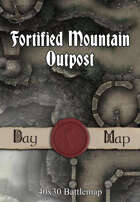 40x30 Battlemap - Fortified Mountain Outpost