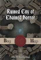 40x30 Battlemap - Ruined City of Chained Horror