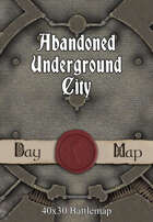 40x30 Battlemap - Abandoned Underground City