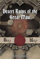 40x30 Battlemap - Desert Ruins of the Great Maw