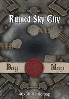 40x30 Battlemap - Ruined Sky City