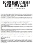 Long Time Listener, Last Time Caller