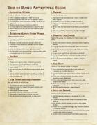 The 20 Basic Adventure Seeds