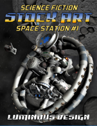 Sci-fi Stock Art Space Station #1
