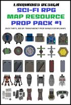 Sci-fi RPG Map Prop Pack #1