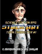 Sci-Fi Stock Art Toon Character #1