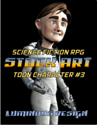 Sci-Fi Stock Art Toon Character #3
