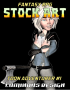 Fantasy RPG Stock Art Toon Character #1