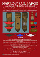 Narrow Sail Barge Map and Asset Encounter Pack