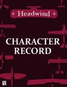 Headwind - Character Record [HCR-1]