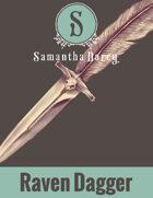 Filler Spot Art - Raven Dagger - by Samantha Darcy