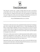 The Exorcist - A Dungeon World Playbook