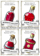 Healing Potion Cards for Pathfinder 2e