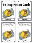 Inspiration Cards for 5e
