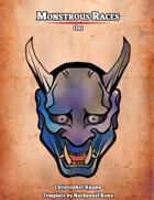 Monstrous Races - Oni