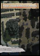 Port Town Battle Map Stock Art (100 map variants!)