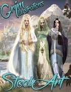 Standard Fantasy Stock Art - Three Elven Queens