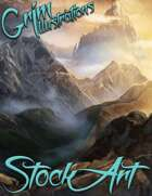 Fantasy Stock Art - Mountain Scenes (Backgrounds)
