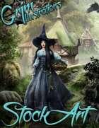 Premium Fantasy Stock Art - Witch #1 (with variant, hag)