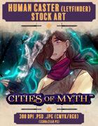 Premium Stock Art: Human Caster: Leyfinder (Cities of Myth)