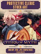 Premium Stock Art: Protective Cleric (Cities of Myth)