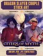 Premium Stock Art: Dragon Slayer Couple (Cities of Myth)