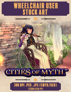 Premium Stock Art: Wheelchair Bard (Cities of Myth)