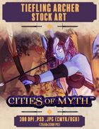 Premium Stock Art: Tiefling Archer (Cities of Myth)