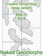Cavern-Tunnel Wye (large cavern) Set B (M58-75B)