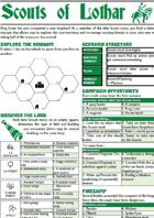 Scouts of Lothar one-page rpg