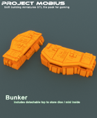 3D Printable Large Bunker With Detachable Top
