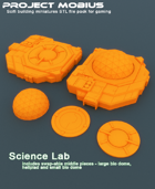 3D Printable Science Lab With Alternate Middle Pieces