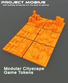 3D Printable Modular Cityscape Game Tokens