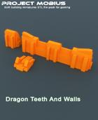 3D Printable Dragon Teeth And Walls