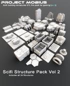 3D Printable Scifi Structures Pack Vol 2