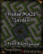 Hedge Maze Garden 29x40 Battlemap