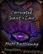 Corrupted Giant's Lair 50x30 Battlemap