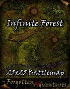 Infinite Forest 25x25 Battlemap