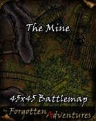 The Mine 45x45 Battlemap
