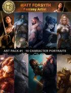 Art Pack#1 Fantasy Character Portraits
