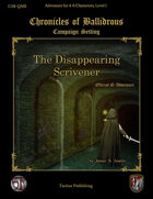 The Disappearing Scrivener
