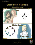 Chronicles of Ballidrous - NPCs - Mar and Mother Janus