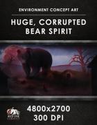 Environment Concept Art - Huge Corrupted Bear Spirit