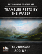 Environment Concept Art - Traveler Rests by the Water